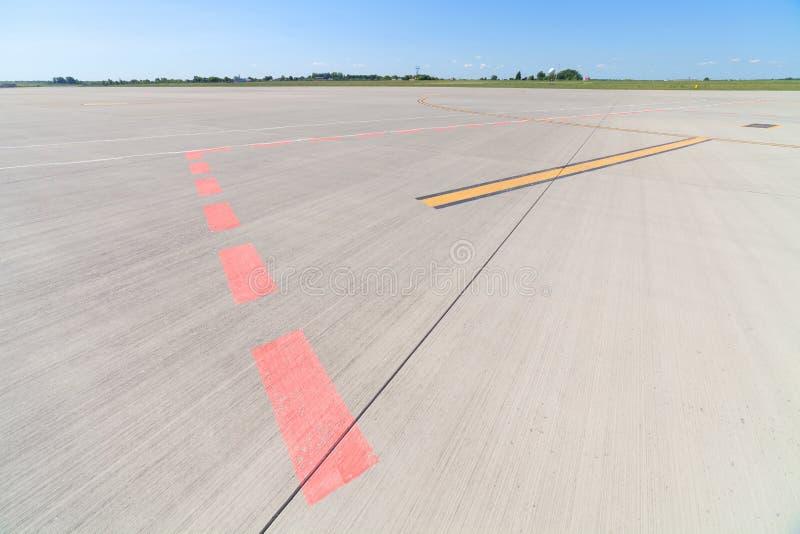 机场跑道 免版税库存图片