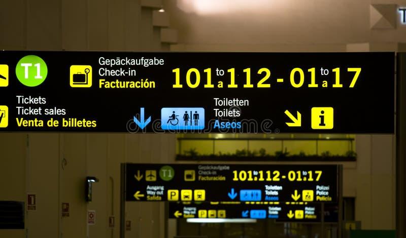 机场面板 免版税库存图片