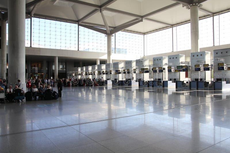 机场马拉加 库存图片