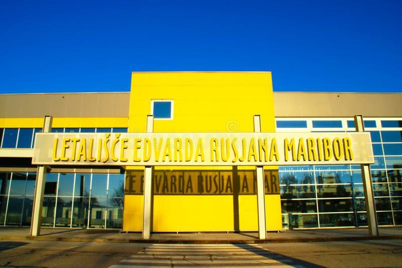 机场马里博尔,斯洛文尼亚 免版税图库摄影