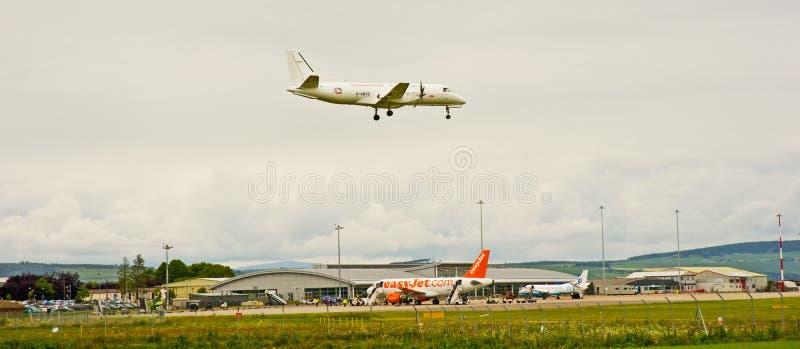 机场高地因弗内斯苏格兰人 库存图片