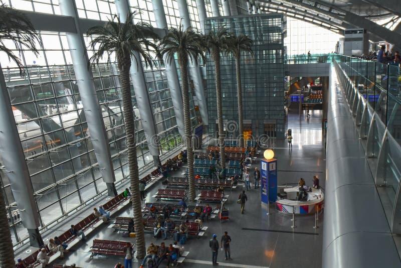 机场,卡塔尔,国际性组织,多哈 库存图片