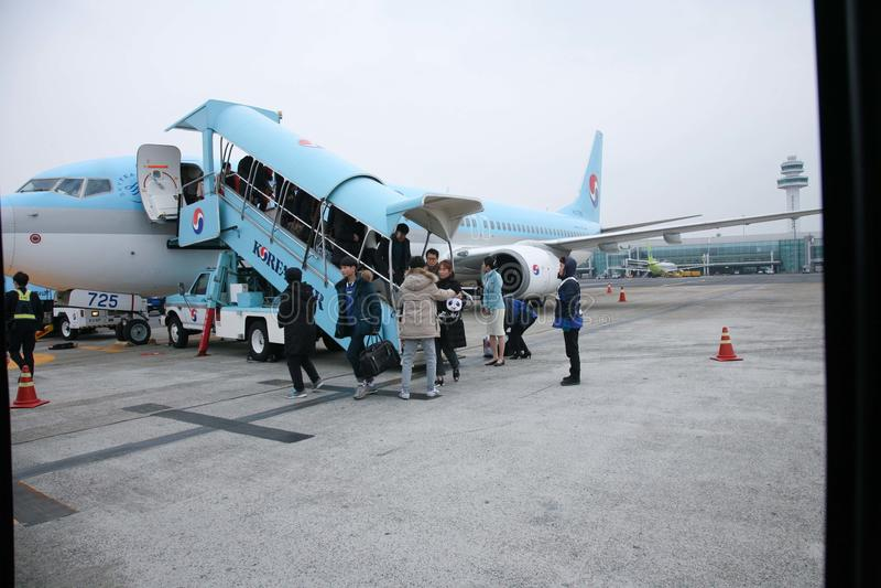 机场,韩航,韩国 免版税库存照片
