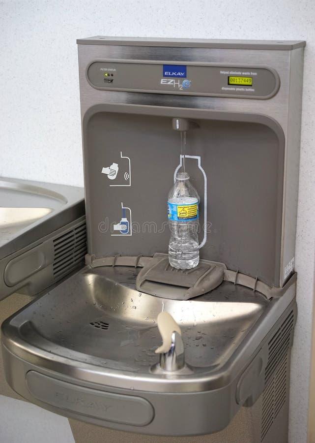 机场水瓶积土驻地 图库摄影