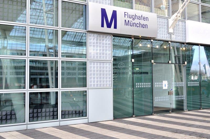 机场终端在慕尼黑 免版税库存照片