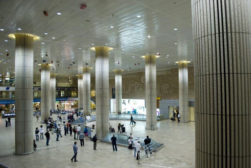 机场aviv本・ gurion以色列tel 库存图片