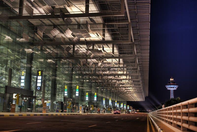机场changi t3 免版税库存图片