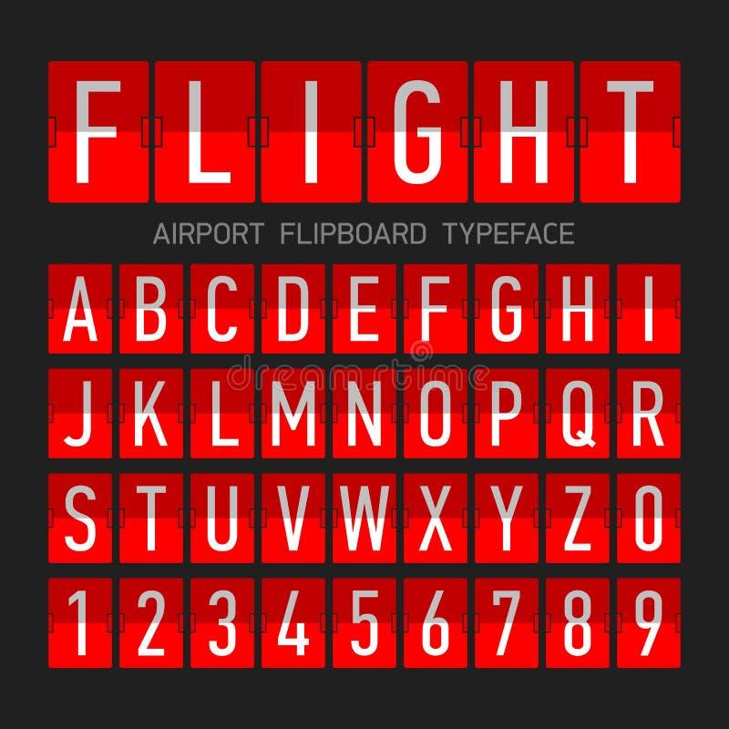 机场flipboard平的样式字体 皇族释放例证