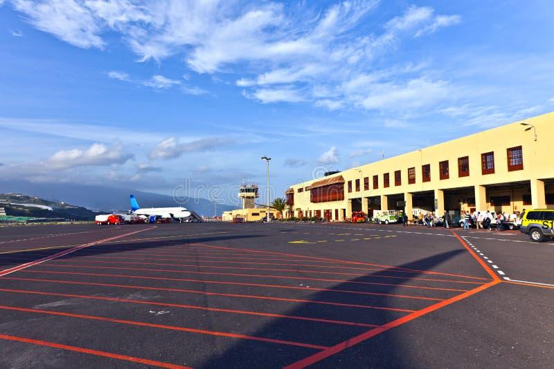 机场la palma 库存图片
