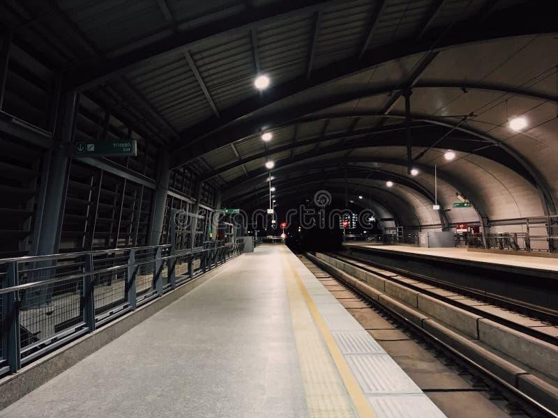 机场raillink 库存照片