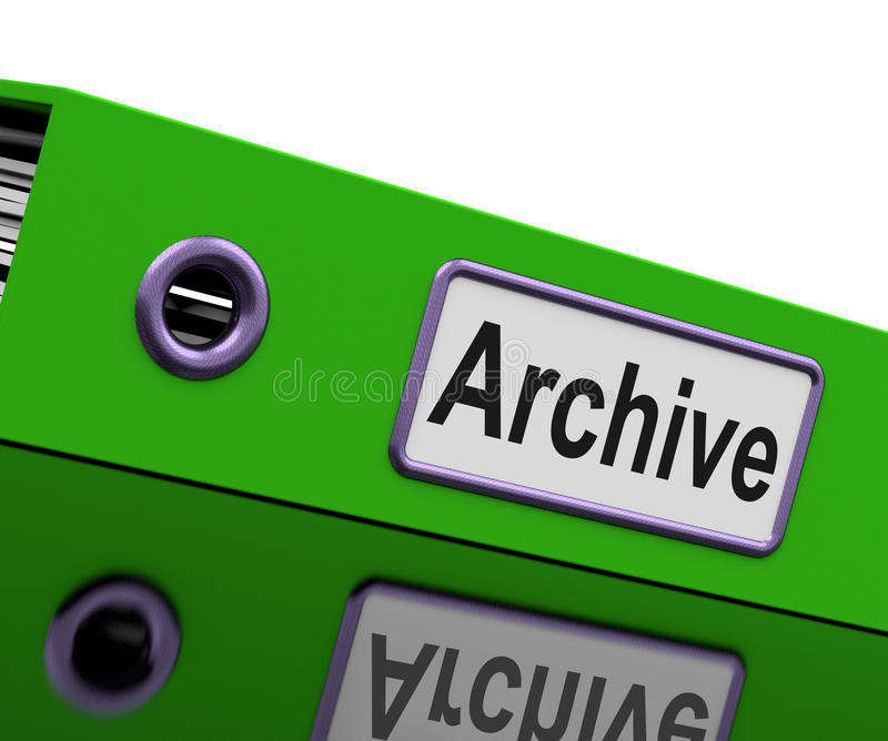 机密文件显示私人通信或文件 库存例证
