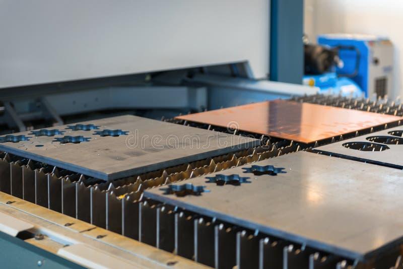 机床切削钢在工厂 库存照片