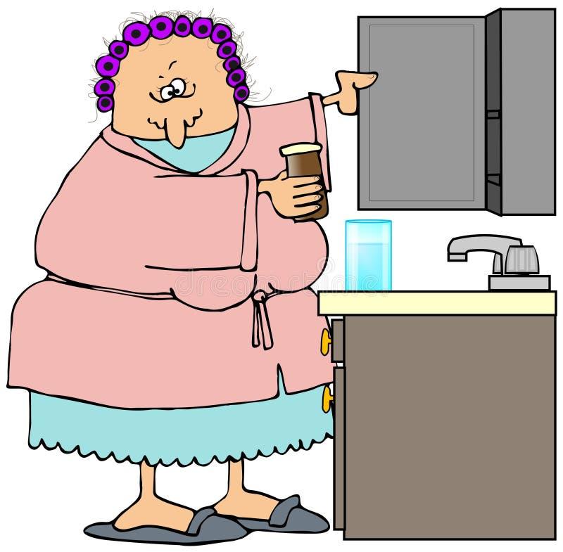 机柜她的医学空缺数目妇女 向量例证