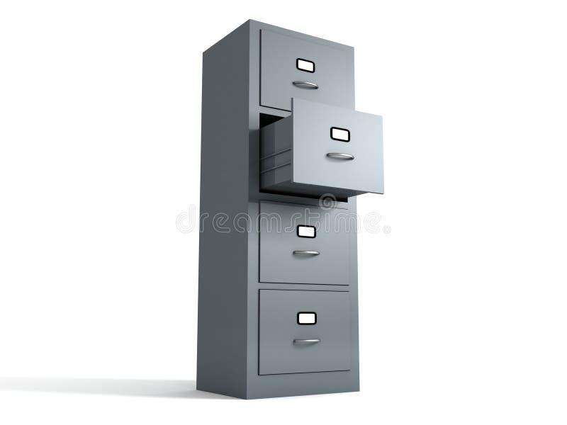 机柜文件办公室 库存例证