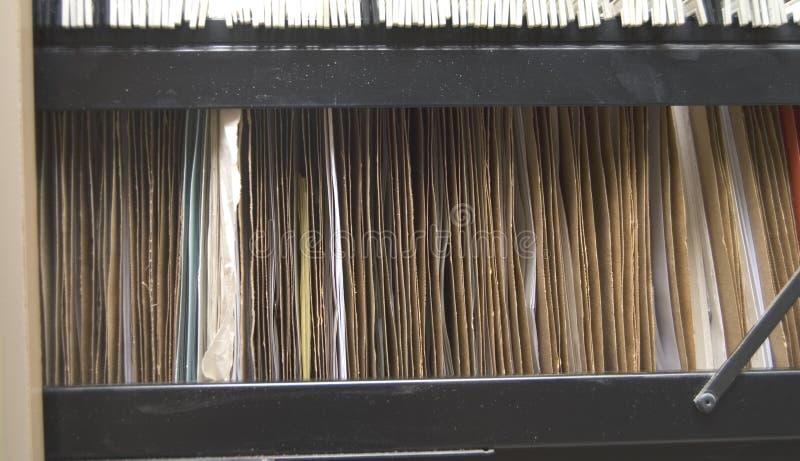 机柜文件夹停止 图库摄影