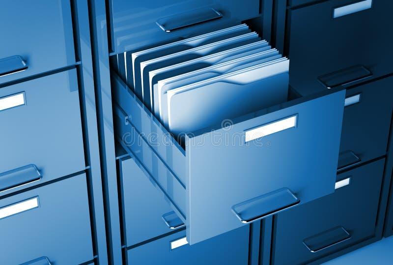 机柜文件夹 库存例证
