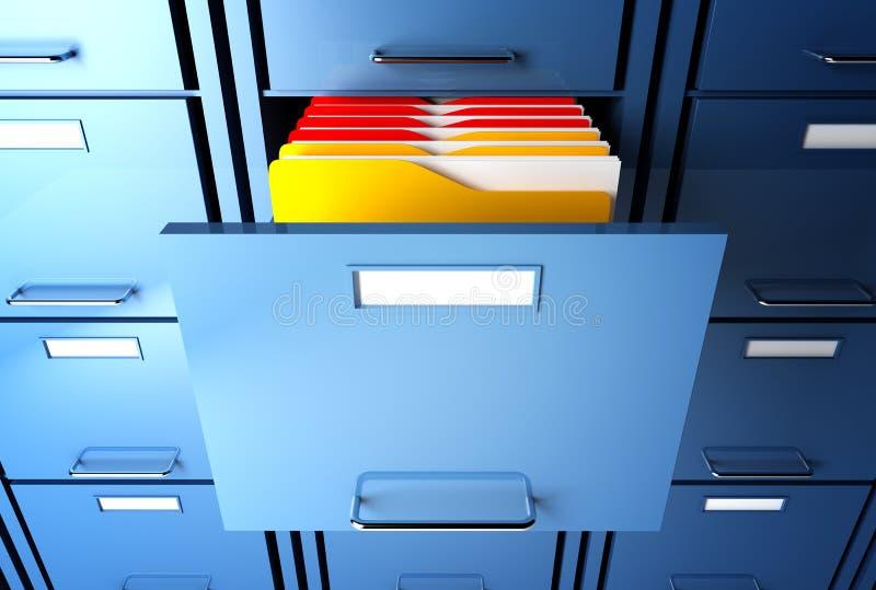 机柜文件夹 皇族释放例证