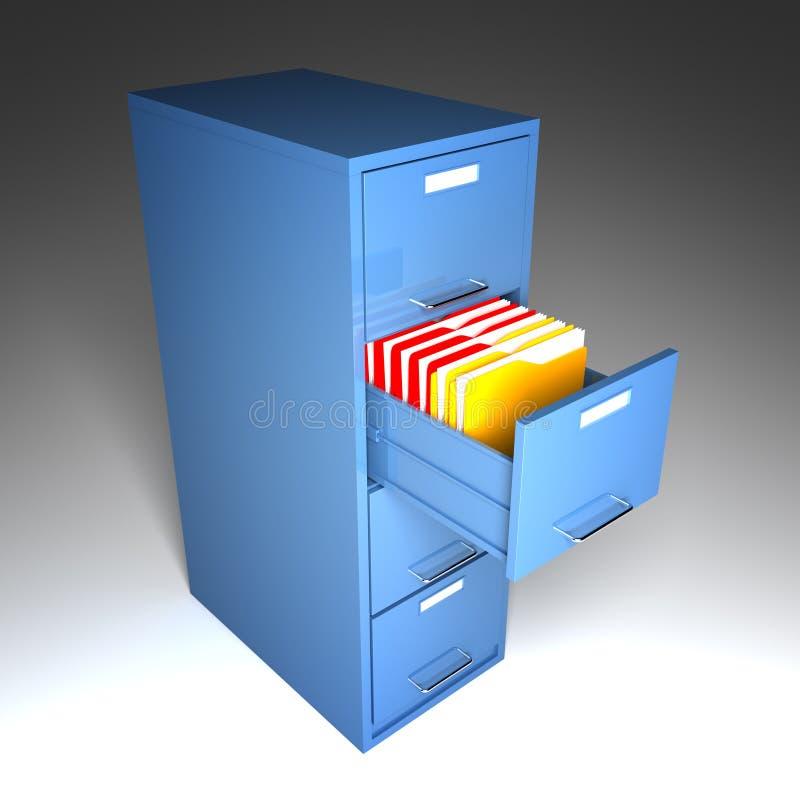 机柜文件夹 向量例证