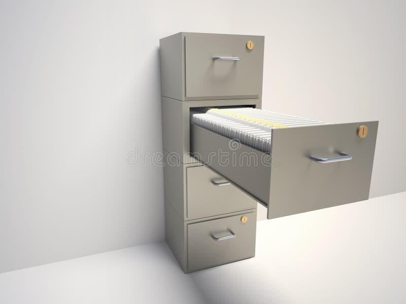 机柜文件 库存例证