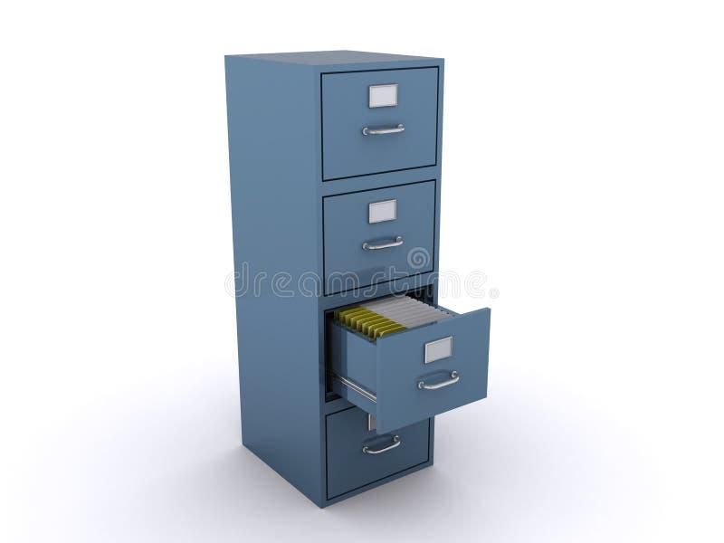 机柜文件 向量例证