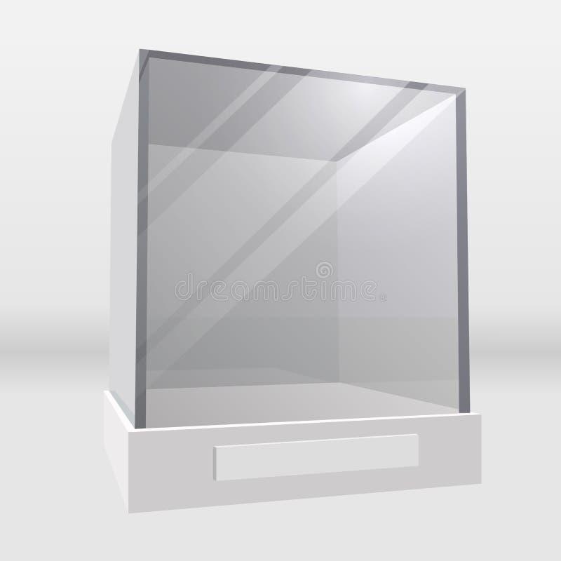 机柜显示玻璃 向量例证