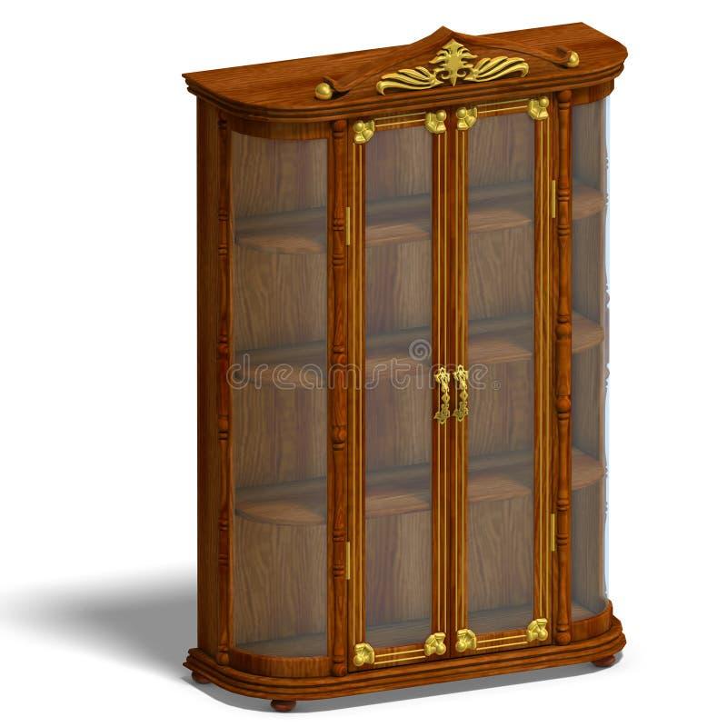 机柜玻璃路易斯木xv 向量例证