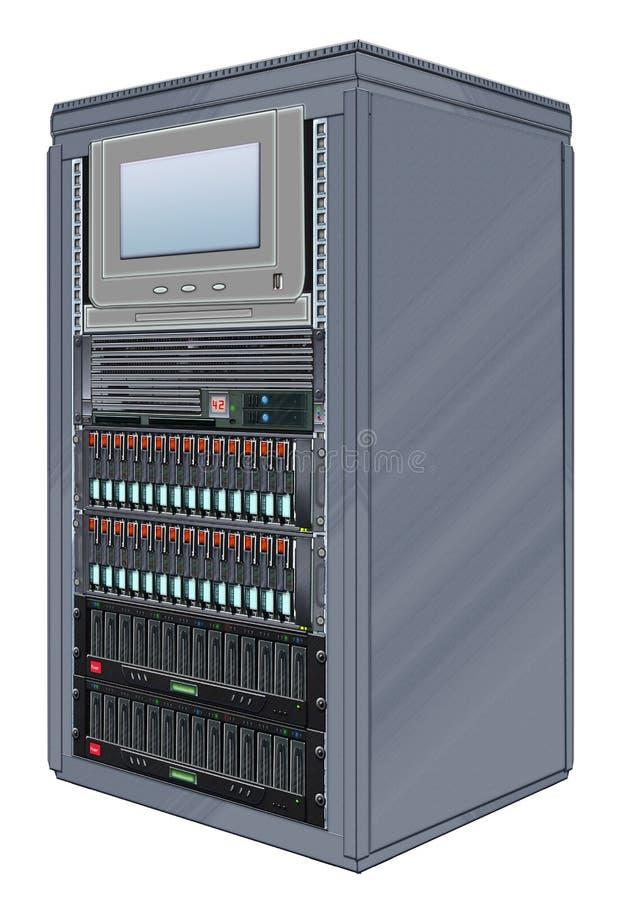 机柜计算机服务器 皇族释放例证
