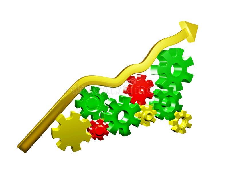 机械企业增长 向量例证