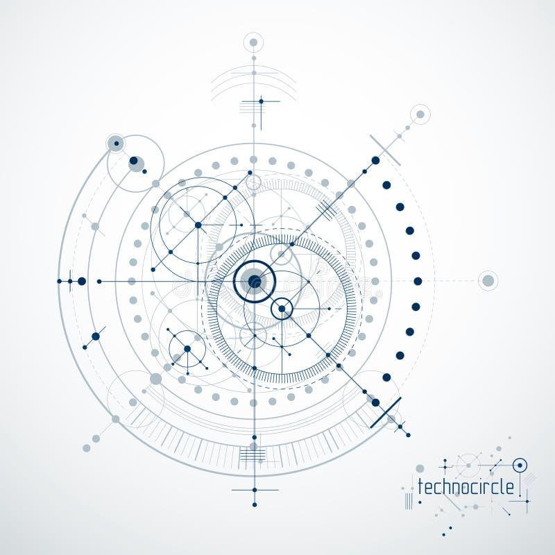 机械工程技术传染媒介摘要背景, cy 向量例证