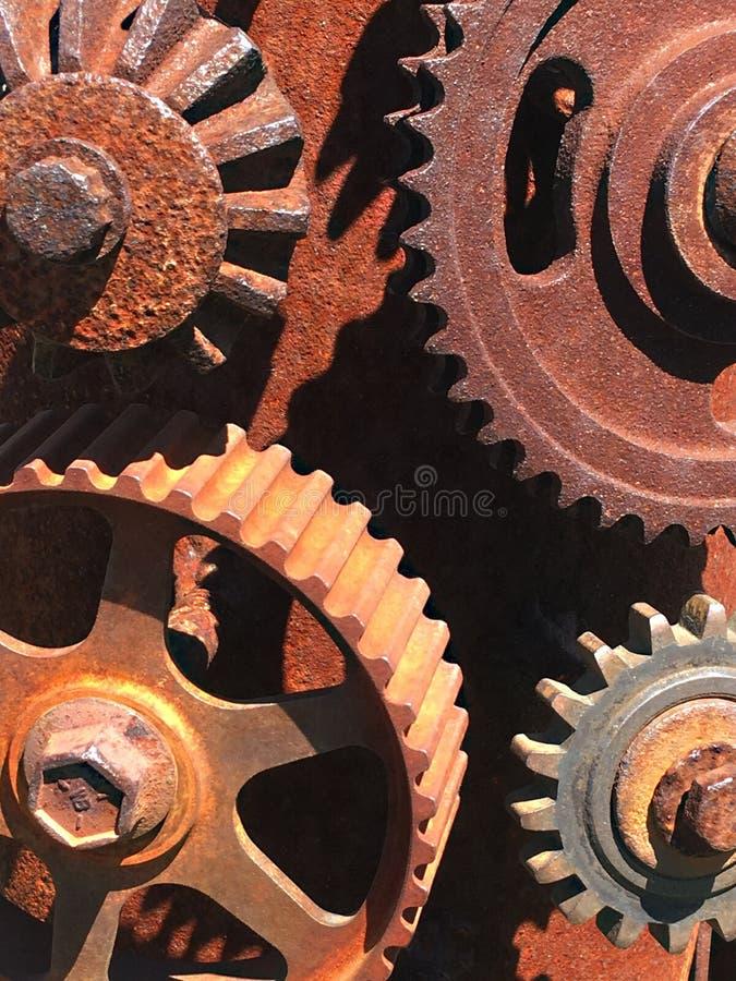 机械拼贴画由齿轮制成 库存照片