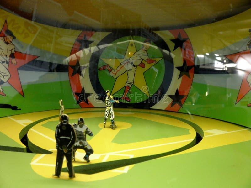 机械棒球娱乐游戏 免版税库存图片