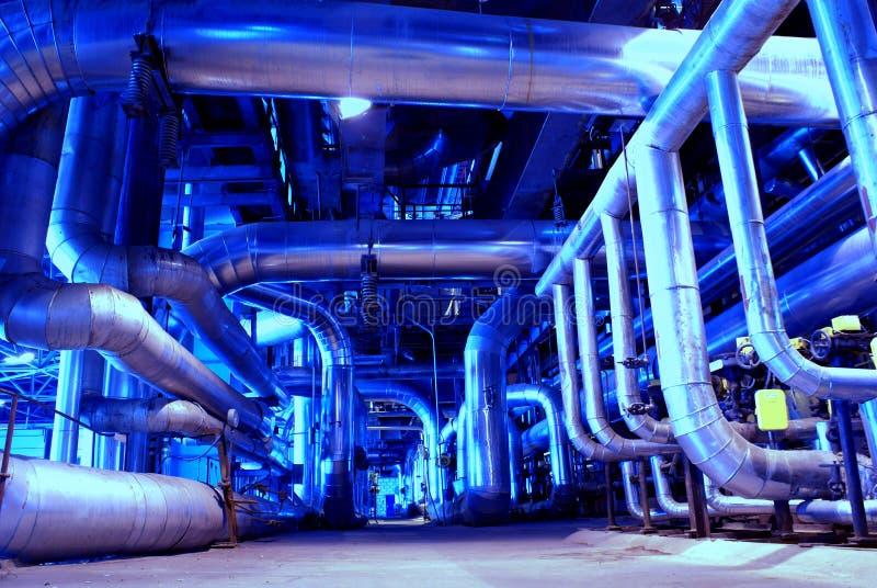 机械用管道输送蒸汽管涡轮 图库摄影