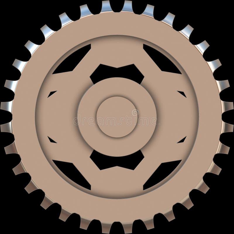 机械的齿轮 向量例证