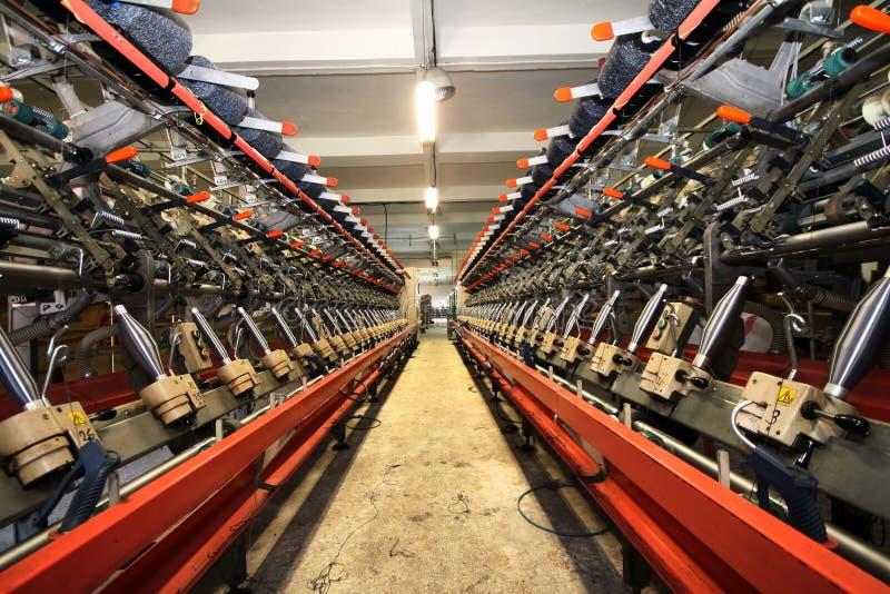 机械纺织品 库存图片