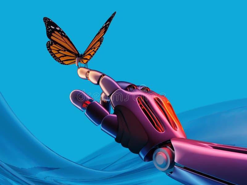 机械臂和蝴蝶 3d回报