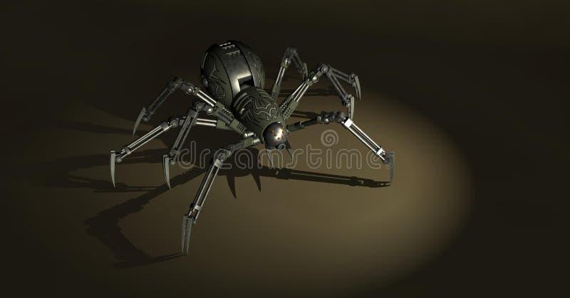 机械蜘蛛 库存例证