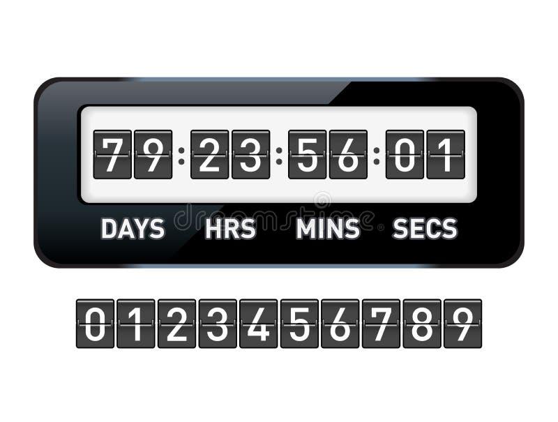 机械读秒定时器 库存例证