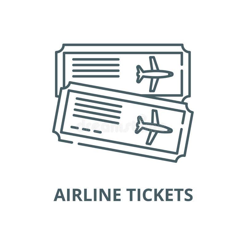 机票传染媒介线象,概述概念,线性标志 库存例证