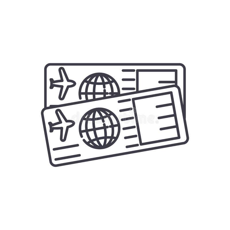 机票排行象概念 机票导航线性例证,标志,标志 库存例证