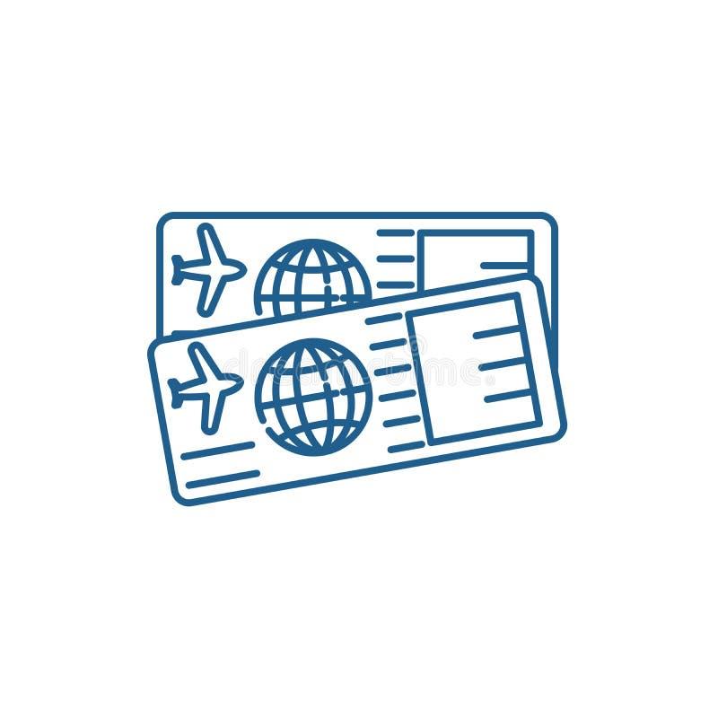 机票排行象概念 机票平的传染媒介标志,标志,概述例证 皇族释放例证