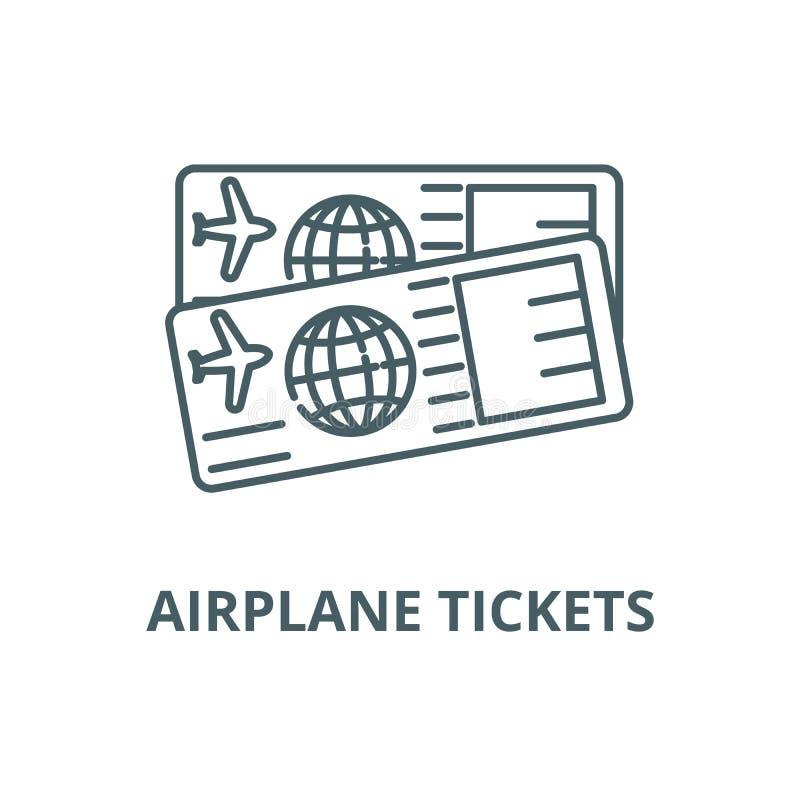 机票排行象,传染媒介 机票概述标志,概念标志,平的例证 库存例证