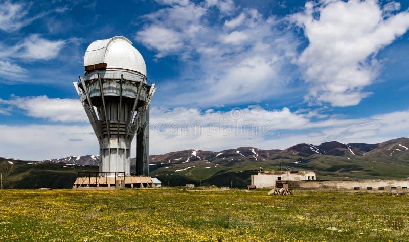 机组Turgen观测所在哈萨克斯坦 免版税库存照片