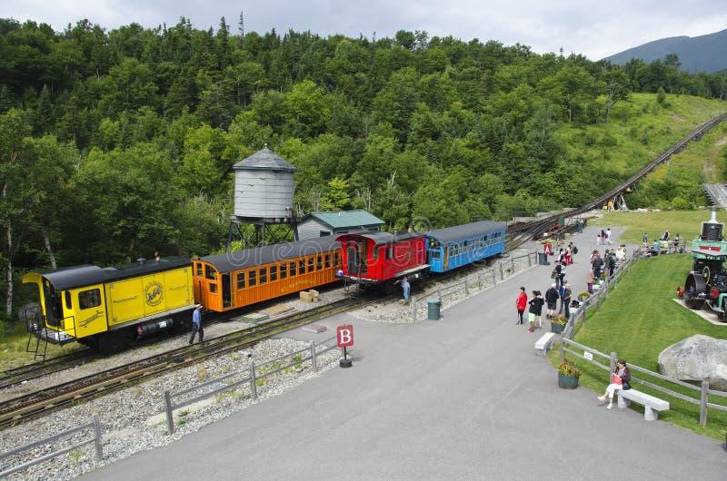 机车和支架在Mt华盛顿, NH -3 免版税图库摄影