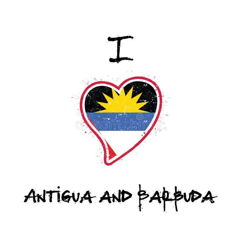 杀冠雉者, Barbudan旗子爱国T恤杉设计 向量例证