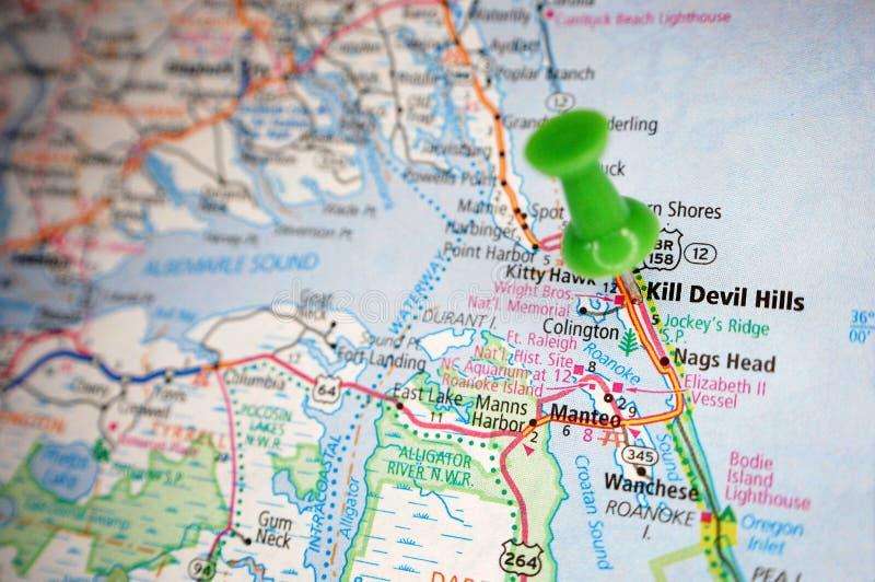 杀害恶魔小山,北卡罗来纳 免版税图库摄影