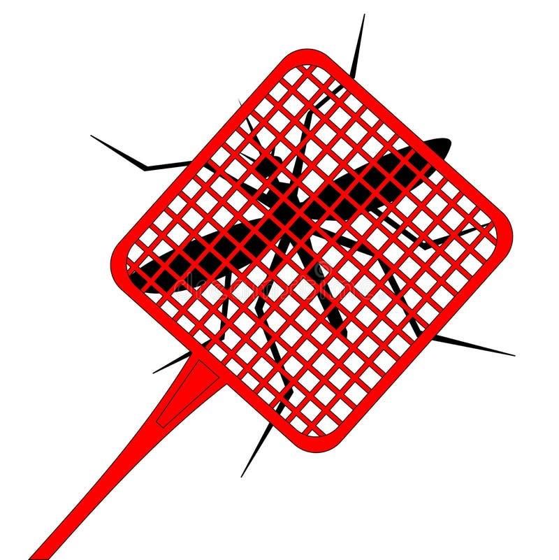 杀害蚊子 库存例证