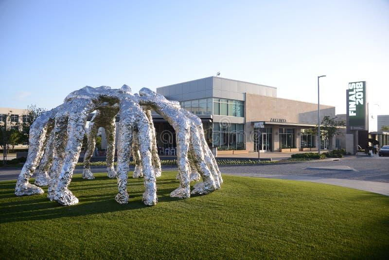 杂乱的一团雕象广角在Frisco星, Frisco,得克萨斯 免版税库存照片