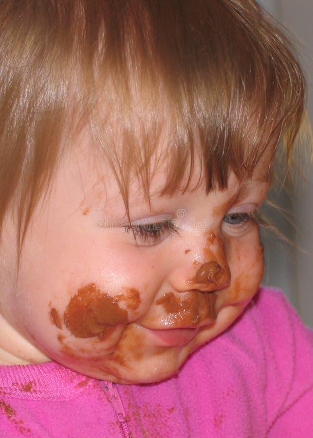 杂乱的婴孩 免版税库存照片