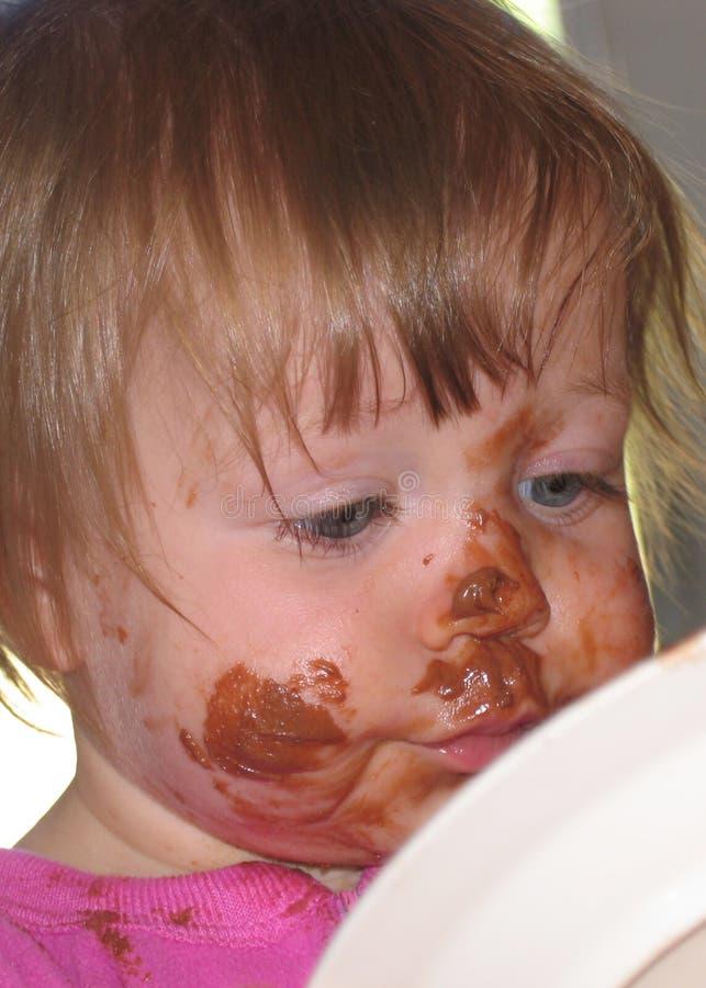 杂乱的婴孩 免版税图库摄影