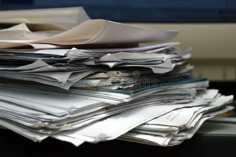 杂乱纸张 免版税库存照片